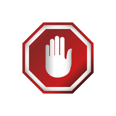 stop sign hand vector icon illustration clipart
