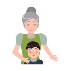 grandmother elder person babysitter vector icon illustration