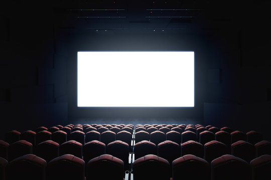 Blank cinema screen