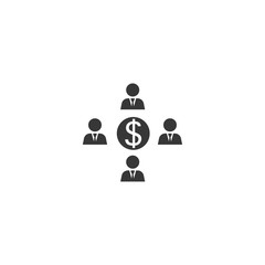Finance flow chart icon