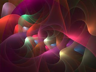 Wavy Transparent Plexus    - Fractal Art
