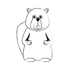 beaver cute animal cartoon icon image vector illustration design