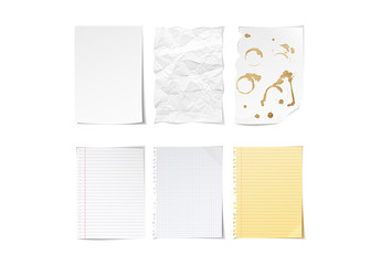 Notepaper Illustration Pack 1
