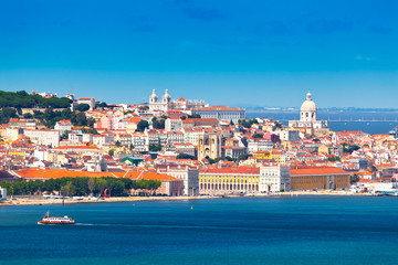 Panorama of Lisbon, Portugal Fototapete