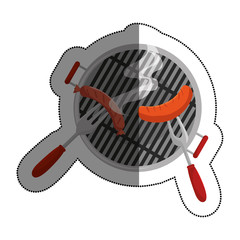 bbq grill delicious food vector illustration design