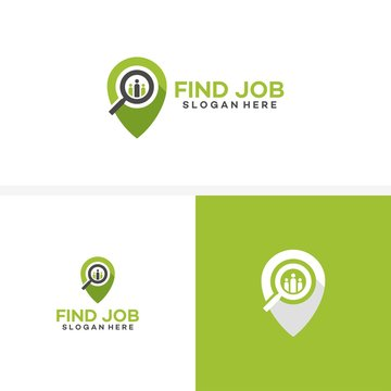 Find Job logo template designs vector illustration