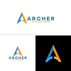 A initial Logo, Up arrow finance logo, Archer business logo template designs