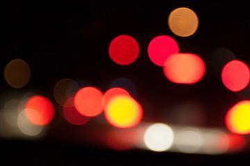 Street lights Bokeh balls