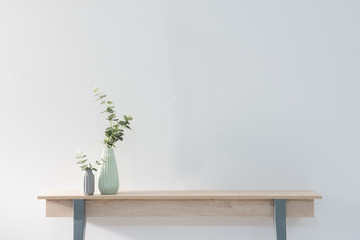 vase of flowers on the desk concept