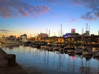 A beautiful sunset in Puerto Madero