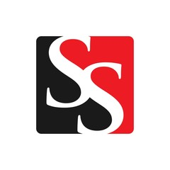 letter S and S logo vector.