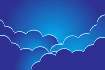 background of blue and clouds of Ramadan kareem edition