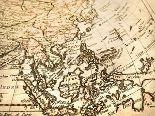 アンティークの古地図 東南アジア