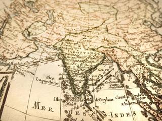 アンティークの古地図 インド