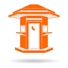 Guardhouse modern style front view vector illustration