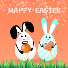 Cute bright easter illustration