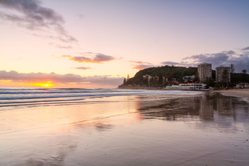 Sunrise at Burleigh Heads on the Gold Coast in Queensland