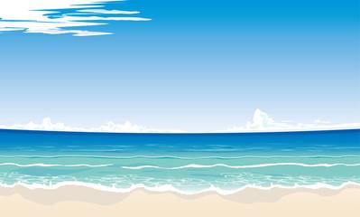 ビーチのイメージイラスト