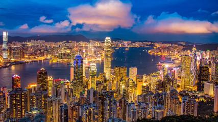 香港・ビクトリアピークから望む風景