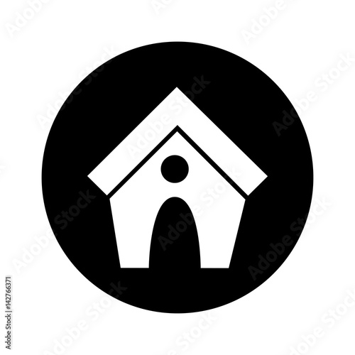 House Mascot Isolated Icon Vector Illustration Design