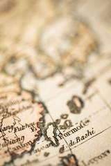 アンティークの古地図 台湾