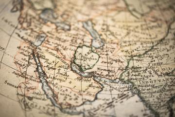 アンティークの古地図 アラビア半島