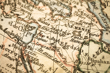 アンティークの古地図 中東