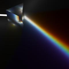 プリズムの分光のCG