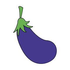 eggplant vegetable icon image vector illustration design