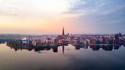 Luftbild Rostock Warnow Holzhalbinsel