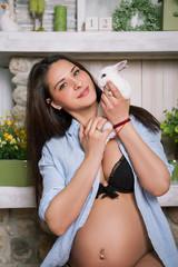 Attractive pregnant girl