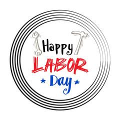Happy Labor day phrase.