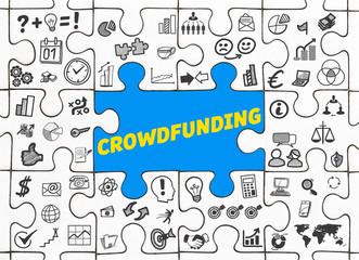 Crowdfunding / Puzzle mit Symbole