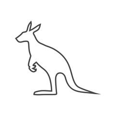 Simple Kangaroo icon - Illustration
