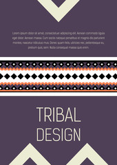 Tribal ethic colorful brochure flyer