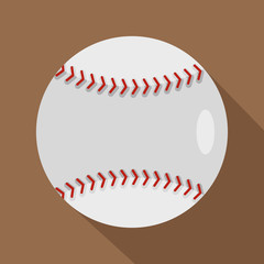 Ball for playing baseball icon, flat style