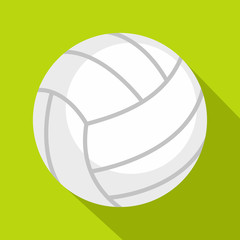 Ball for playing volleyball icon, flat style