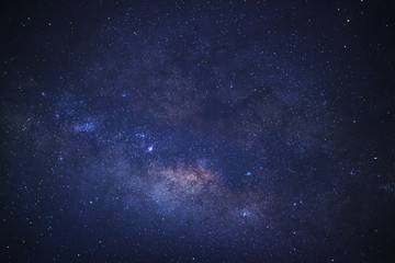 Close up Milky Way, Long exposure photograph.with grain