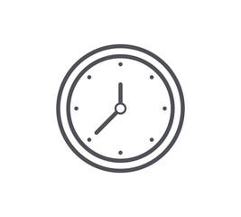 Wall Clock Line Icon