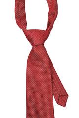 Red Necktie isolate on white background