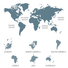 Search photos world map vector blank grey world map isolated on white background worldmap vector template for website design gumiabroncs Gallery