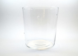 Clean thin drinking glass