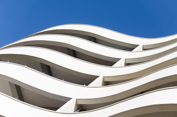 the building with curved lines
