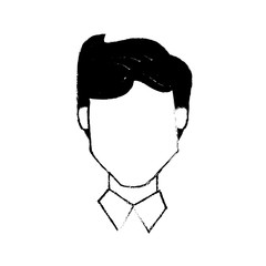 head male people character vector illustration eps 10