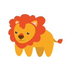 lion infantile cartoon animal vector icon illustration