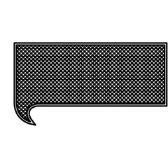 monochrome silhouette with rectangle speech with mesh background vector illustration
