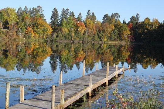 boat dock on Minnesota lake