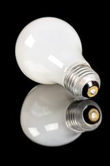 Single antique incandescent light bulb