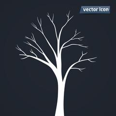 tree silhouette vector icon