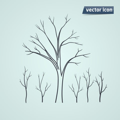 tree silhouette vector icon